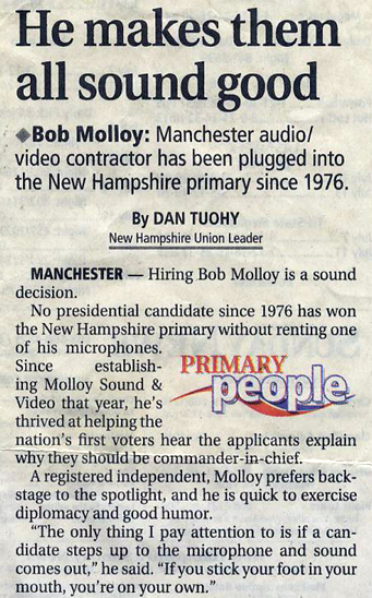 New Hampshire Union Leader - July 15, 2007