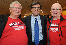 Bob Surtees, George Stephanopoulos & Bob Molloy