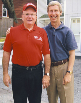 Bob Molloy with New Hampshire Governor John Lynch.