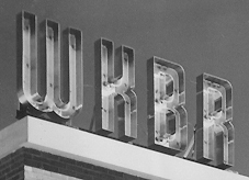detail of WKBR's neon sign